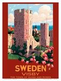 Visby, Sweden - The Town of Ruins and Roses - City Wall Posters by Ivar Gull
