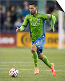 2014 MLS Playoffs: Nov 10, FC Dallas vs Seattle Sounders - Clint Dempsey Posters by Joe Nicholson