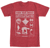 Star Wars- Imperial Craft Chart T-shirts