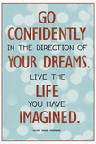 Live the Life You Have Imagined Thoreau Quote Art Print Poster Poster