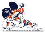 Detroit Tigers Vintage Sliding Kitty Lasercut Steel Logo Sign Wall Sign