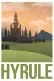 Hyrule Retro Travel Poster Kunstdrucke