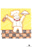 Chef Bon Appetite Text Poster Prints