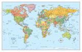 Rand Mcnally Laminated Signature World Map - Reprodüksiyon