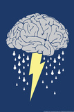Tempestade cerebral Posters por  Snorg