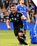 Apr 19, 2014 - MLS: Montreal Impact vs Sporting KC - Dom Dwyer Print by Jasen Vinlove