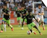 2014 MLS Western Conference Championship: Nov 23, Seattle Sounders vs LA Galaxy - Obafemi Martins Posters by Kelvin Kuo