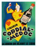 Cordial Médoc Liqueur - The Liquor Which Rejoices the Heart Giclée-tryk af Henry Le Monnier