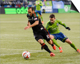 2014 MLS Western Conference Championship: Nov 30, Galaxy vs Sounders - Landon Donovan, Zach Scott Posters by Steven Bisig
