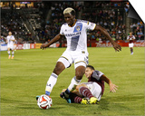 Aug 20, 2014 - MLS: Los Angeles Galaxy vs Colorado Rapids - Gyasi Zardes, Marc Burch Posters by Isaiah J. Downing