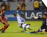 2014 MLS Playoffs: Nov 9, Real Salt Lake vs LA Galaxy - Nick Rimando, Gyasi Zardes, Tony Beltran Prints by Jake Roth
