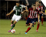 Aug 9, 2014 - MLS: Chivas USA vs Portland Timbers - Diego Valeri, Eriq Zavaleta Prints by Jaime Valdez