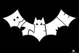 Bat Bite Me Text Poster Billeder