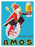 Amos Pils Biere (Beer)-Gambrinus, King of Beer - Brasserie Amos, Metz, France Poster af Raymond Gay