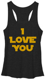Juniors Tank Top: Star Wars- I Love You Tank Top