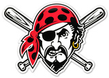 Pittsburgh Pirates Pirate Head Lasercut Steel Logo Sign Wall Sign