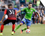 Jul 13, 2014 - MLS: Portland Timbers vs Seattle Sounders - Clint Dempsey Posters by Joe Nicholson