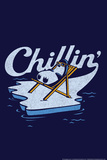 Chillin' Penguin Snorg Tees Poster Print
