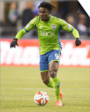 2014 MLS Western Conference Championship: Nov 30, LA Galaxy vs Seattle Sounders - Obafemi Martins Print by Joe Nicholson