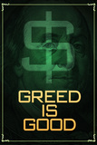Wall Street Movie Greed is Good Poster Print Plakater