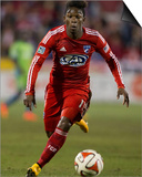 2014 MLS Playoffs: Nov 2, Seattle Sounders vs FC Dallas - Fabian Castillo Posters by Tim Heitman