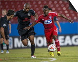 2014 MLS U.S. Open Cup: Jun 17, San Antonio Scorpions vs FC Dallas - Fabian Castillo Posters by Jerome Miron