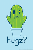 Cactus Hugz Print by  Snorg