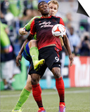 Jul 13, 2014 - MLS: Portland Timbers vs Seattle Sounders - Fanendo Adi, Chad Marshall Prints by Joe Nicholson