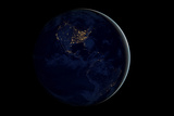 The Earth at Night By Satellite NASA Posters