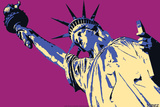 Steez Lady Liberty - Pink Posters