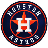 Houston Astros Lasercut Steel Logo Sign Wall Sign