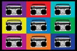 Boombox Stereos Pop Art Print Poster Prints