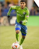 2014 MLS Western Conference Championship: Nov 30, LA Galaxy vs Seattle Sounders - DeAndre Yedlin Prints by Joe Nicholson