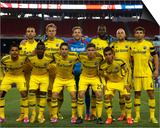 2014 MLS Playoffs: Nov 9, Columbus Crew vs New England Revolution Art by Winslow Townson