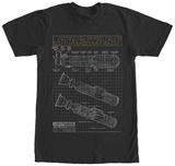 Star Wars- Lightsaber Schematics T-shirts