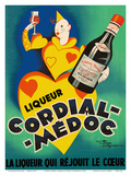 Cordial Médoc Liqueur - The Liquor Which Rejoices the Heart Posters by Henry Le Monnier