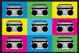 Boombox Stereos 2 Pop Art Print Poster Photo