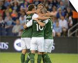 2014 MLS U.S. Open Cup: Jun 24, Portland Timbers vs Sporting KC - Will Johnson Prints by Denny Medley