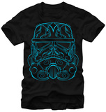 Star Wars- Blue Etched Trooper T-Shirt