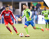 2014 MLS Playoffs: Nov 10, FC Dallas vs Seattle Sounders - Clint Dempsey Prints by Joe Nicholson