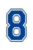 Varsity Number 8 (Eight) Make Your Own Banner Sign Poster Prints