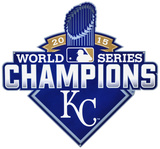 Kansas City Royals 2015 World Series Champions Lasercut Steel Logo Sign Wall Sign
