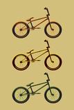 BMX Bikes Pop Art Sports Poster Print Láminas