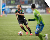 2014 MLS Western Conference Championship: Nov 30, Galaxy vs Sounders - Landon Donovan Prints by Steven Bisig