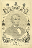 Abraham Lincoln Portrait Emancipation Proclamation Historical Document Poster Posters