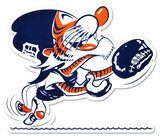 Detroit Tigers Vintage Catcher Kitty Lasercut Steel Logo Sign Wall Sign