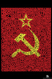 Soviet Flag Text Poster Posters