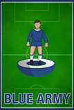 Blue Army Football Soccer Sports Poster Posters