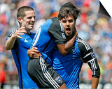 Apr 13, 2014 - MLS: Columbus Crew vs San Jose Earthquakes - Yannick Djalo, Chris Wondolowski Prints by Robert Stanton