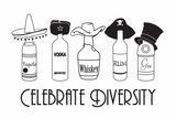 Celebre a diversidade, em inglês Posters por  Snorg